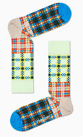 Happy Socks Tartan Square